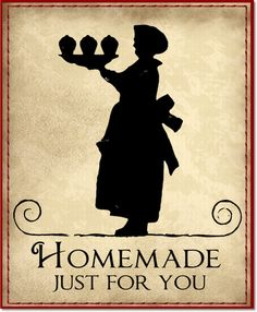 Yes, our food should be homemade with love - that is, if at all possible.