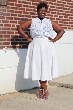 curvy women, plus size clothing, curvy, curvy girls, plus size blogs, summer, midi skirts, white midi skirts. plus size skirts, eyelet shirt...