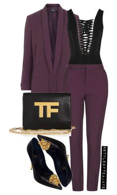"""""""Untitled #2105"""" by stylebyteajaye ❤ liked on Polyvore featuring Topshop, Givenchy, Tom Ford and Versace"""