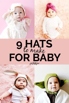 Baby sewing is so much fun, and baby hats are some of my favorite things to make! Here are 9 baby hats to make for an upcoming arrival! Baby Sewing Tutorials, Sewing Projects For Kids, Sewing For Beginners, Sewing For Kids, Sewing Hacks, Sewing Ideas, Hat Patterns To Sew, Sewing Patterns, Sewing Kids Clothes