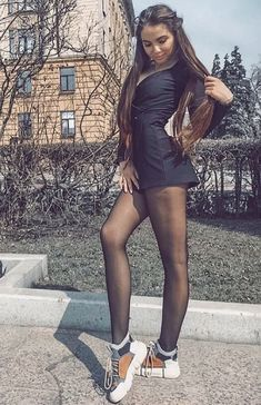 Girls Sneakers, Short Skirts, Ariana Grande, Hosiery, Trainers, Tights, Stockings, Shirt Dress, Legs