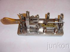 Neat Old Vintage Telegraph Nickel Plated Dow Key Morse Code Antique Steam Punk | eBay