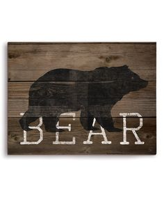 Look at this 'Bear' Silhouette Wall Art on #zulily today!