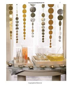 DIY Party Decoration circle punch hanging streamer garland decorations