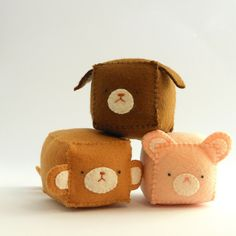Cube Pincushion - Stuffed and soft toys MADE TO ORDER. €12.00/£9.96 each, via Etsy.
