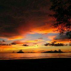 Sunset at Kota Kinabalu, Sabah, Malaysia