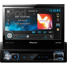 The multimedia DVD receiver features a beautiful motorized WVGA touchscreen display, Pioneer's own MIXTRAX™ technology, and AppRadio Mode for iPhone®. Cheap Car Audio, Bluetooth Car Stereo, Walmart, Av Receiver, Car Audio Systems, Car Amplifier, Receptor, Car Hd, Gps Navigation
