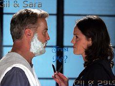 Gil and Sara. The most beatiful couple of CSI Las Vegas.