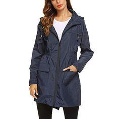 Active Outdoor Rain Jacket Detachable Hooded Womens Rain Trench Coat, Hooded Trench Coat, Trench Jacket, Hooded Jacket, Blue Raincoat, Hooded Raincoat, Dog Raincoat, Best Lightweight Rain Jacket, Summer Dress