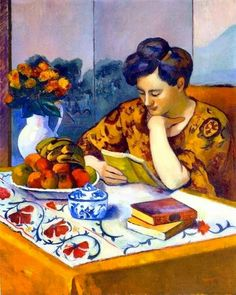 Reading and Art: Manguin_Henri Henri Matisse, André Derain, Books To Read For Women, Raoul Dufy, Mary Cassatt, Book Reader, World Of Books, Book Lovers, Book Art