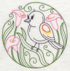 Machine Embroidery Designs at Embroidery Library! - Machine Embroidery Designs at Embroidery Library! Towel Embroidery, Modern Embroidery, Hand Embroidery Patterns, Embroidery Applique, Cross Stitch Embroidery, Machine Embroidery Designs, Fabric Painting, Embroidered Flowers, Needlework