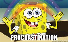 Procrastination - Spongebob Imagination meme | Meme Generator