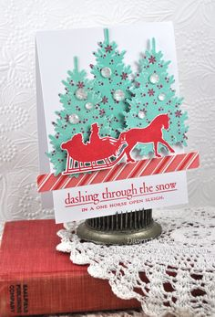 In The Meadow Revisited - Dashing Through The Snow Card by Dawn McVey for Papertrey Ink (December 2012)
