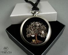 The tree of life - new edition in old pocket watch case. #handmade #clockwork #pendant #treeoflife #cogs #tryb #jewelry