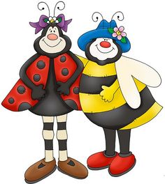 Lady Bug & Bee--- Friends !