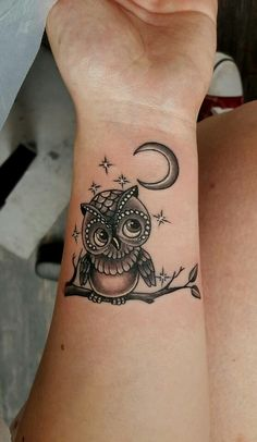 50 Inspirational Owl Tattoo Ideas That Are Unique – # … – tattoos for women small Bad Tattoos, Best Sleeve Tattoos, Wrist Tattoos, Trendy Tattoos, Cute Tattoos, Unique Tattoos, Body Art Tattoos, Owl Tattoo Wrist, Night Owl Tattoo