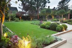 A modern or contemporary garden is characterized by a sleek, streamlined and sophisticated style. Modern garden designs draw on the simplicity of Asian design practices. Generally, a modern garden … Contemporary Garden Design, Modern Landscape Design, Garden Landscape Design, Contemporary Landscape, Creative Landscape, Modern Design, Garden Design Layout Modern, Contemporary Stairs, Garden Layouts