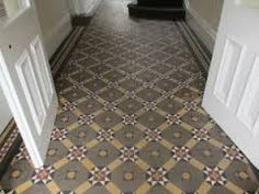 Image result for original victorian tiled hallway