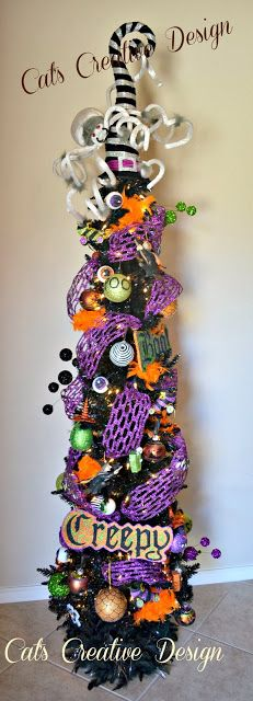 My Halloween tree!  Cat's Holiday & Home Decor,