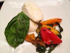 Tutto Italia (Epcot) -- Fior Di Latte Mozzarella with roasted sweet peppers, basil, Maldon sea salt, and extra virgin olive oil.