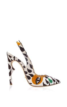 Jerome C. Rousseau Karma Pump In Miss Kk Collaboration Print $695 Spring 2015 #Shoes #Heels