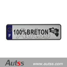 License plate with custom size and logo