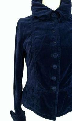 Van der Mark blauw fluwelen jasje, maat 38 M! Tante Twiggy Shop <3 www.marktplaats.nl/verkopers/20281615.html