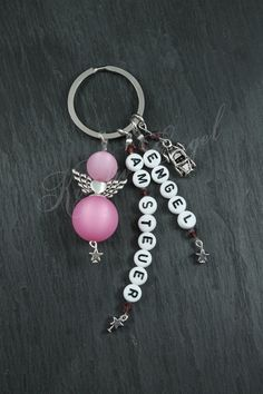Schlüsselanhänger - ☆Schutzengel☆ Schlüsselanhänger ☆Engel am Steuer☆ - ein Designerstück von Kreativ-Engel bei DaWanda