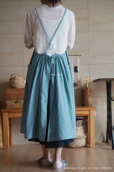 린넨 에이프런 원피스 앞치마 : 네이버 블로그 Sewing Crafts, Sewing Projects, Midi Skirt, Fancy, Skirts, Design, Aprons, Patterns, Fashion