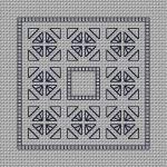 Blackwork Needle Case #2 ------------------------------------------------ Stitch Count = 84 x 37 Grade = Easy
