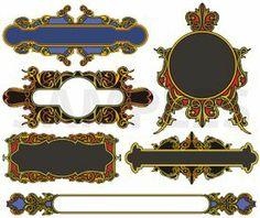 ornamental color panels, vinyl-ready, ornaments, ornamental art, decorative vector images, vector cliparts, cuttable graphics