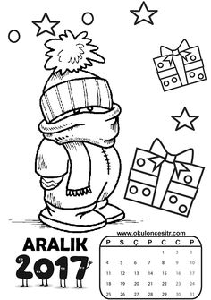 aralik.gif 595×846 piksel T 72, Winter Art, Preschool, Projects To Try, Bullet Journal, Diy Crafts, Education, Portugal, Coloring