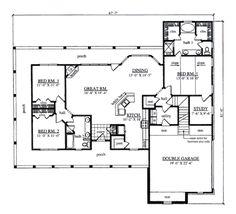 farmhouse style house plan 3 beds 2 baths 1817 sqft plan 42