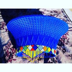 Zulu basket hat (isicholo) with beadwork. Traditional hat worn at special occasions such as weddings Zulu Traditional Attire, Zulu Traditional Wedding, African Traditional Dresses, African Hats, African Fashion, African Dress, African Clothes, African Accessories, African Jewelry