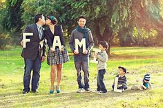 Family Letters in Photography. one day? one kid might need to hold 2 letters. haha