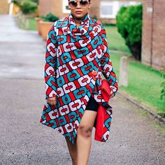 The Charlotte African Print coat