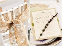 Bride and groom chair ties