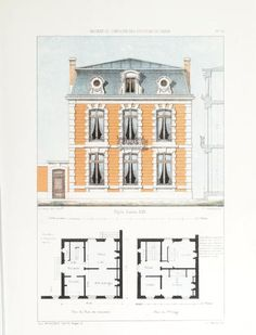 Maisons de campagne des environs de Paris : avec plans dessinées d'après nature : Petit, Victor, 1820?-1874 : Free Download, Borrow, and Streaming : Internet Archive Classic House Design, Free Download, House Plans, Floor Plans, Internet, Leaves, Nature, Archive, French Houses