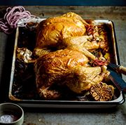 Roast Chicken with Herbed Bread Stuffing
