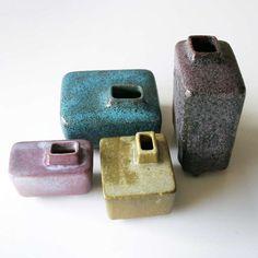 Pieter Groeneveldt; Glazed Earthenware Vases, 1950s.