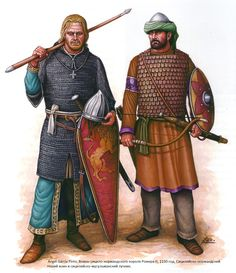 Warriors of Roger II of Sicily, c.1150: Siculo-Norman infantryman and Siculo-muslim archer