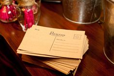 Love the postcard idea...just have guests write their address on them and you write your thank you msg and send.