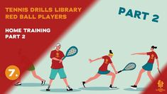 Red ball players drills and exercises Tennis Videos, Tennis Workout, Player 1, Drills, At Home Workouts, Exercises, Fitness, Red, Exercise Routines