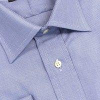 e977286fda O'Connell's French Cuff Dress Shirt - Spread Collar - Blue Sharkskin