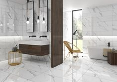 TIMELESS INSPIRATION - The beauty of natural marble in a complete and diversified range. Refinement for modern to classic spaces. Bad Inspiration, Bathroom Inspiration, Bathroom Ideas, Commercial Flooring, Beautiful Bathrooms, Wall Tiles, Tile Floor, Interior Design, Luxury