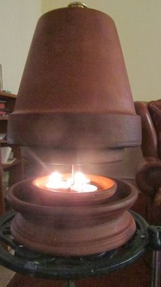 clay pot heaters with votives | After starting on this potty quest I looked at the Ana code, the usual ...