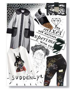 """Wild teenage girl,raw! 🐾"" by jelena-bozovic-1 ❤ liked on Polyvore featuring Kate Spade, Noir Kei Ninomiya, Skechers, Dolce&Gabbana, Miss Étoile and Louis Vuitton"
