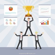 Successful Teamwork Concept Free Vector