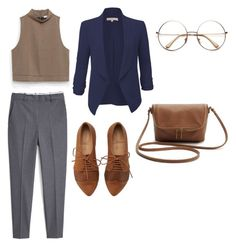 Librarian by brittany-steplight on Polyvore featuring polyvore fashion style Zara LE3NO MANGO clothing