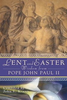 Lent and Easter Wisdom From Pope John Paul II: Daily Scripture and Prayers Together With John Paul II's Own Words.  The late Holy Father's thought-provoking words lead readers through a journey of conversion throughout the season.   Each daily reflection—from Ash Wednesday through the Second Sunday of Easter—includes a quote from Pope John Paul II, Scripture, a prayer, and a suggested activity for spiritual growth. To see sample pages, go to http://www.liguori.org/productdetails.cfm?PC=9513